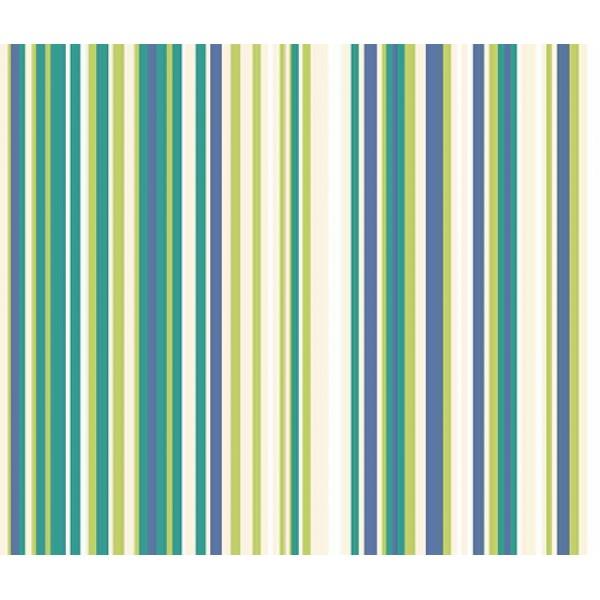 Stoffmuster Canvas Lina, bedruckt, grün-blau