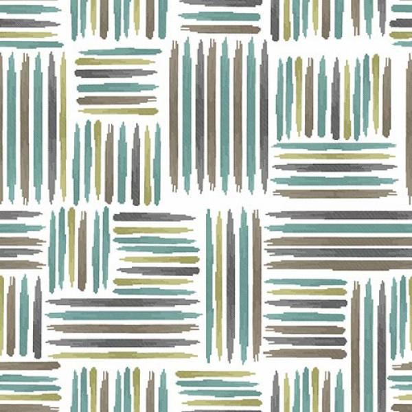 Stoffmuster Canvas Hay, bedruckt, grün-braun